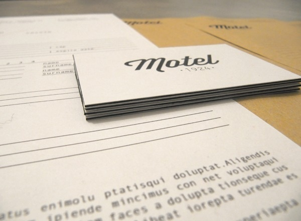 Motel hotel by Otto Climan #logo #lettering #identity