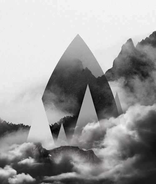 http://evilevich.tumblr.com Drop #illustration #shape #mountain #line #landscape #triangle #forest #drop #cloud #curve #aparaats