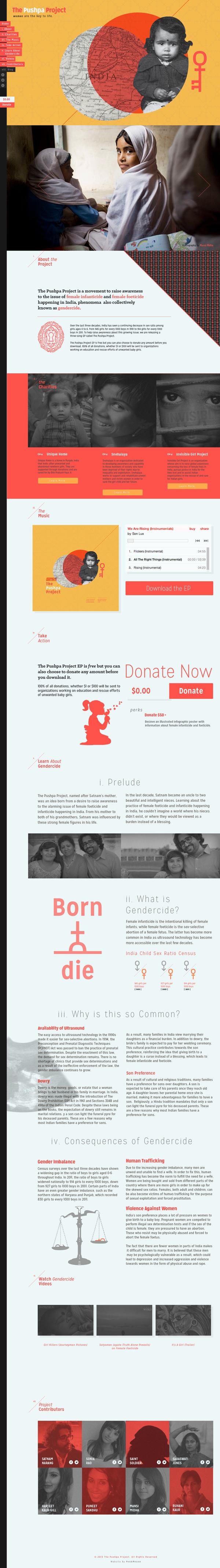 Pushpa Project Website