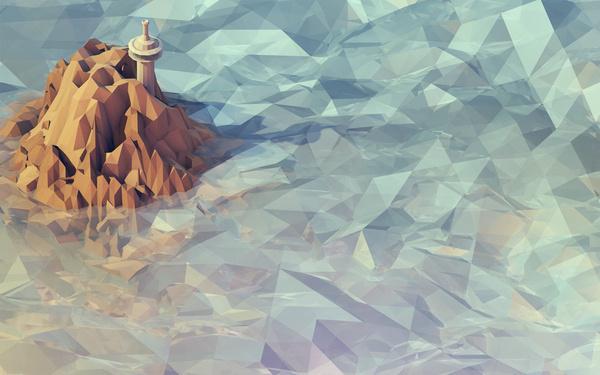 Isometrics #blue #isometric #landscape