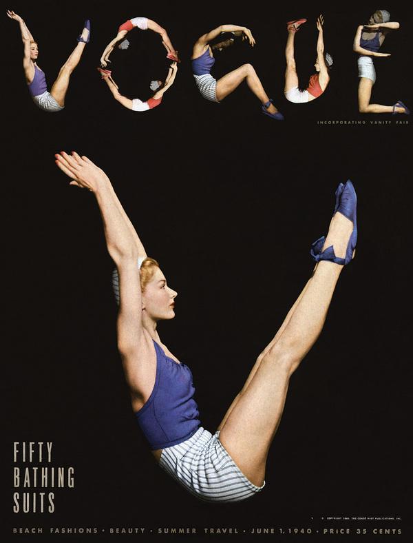 Vogue June 1 1940 #vogue #letters #body #cover #magazine