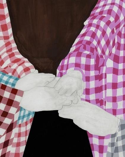 Art Sponge I Inspirational Visual Art #pattern #ryan #color #catherine #painting #hands #gouache