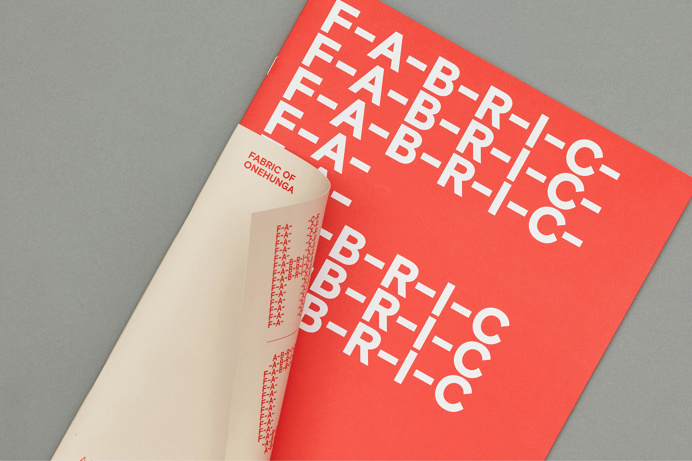 Brand identity and brochure by Richards Partners for Auckland residential development Fabric of Onehunga