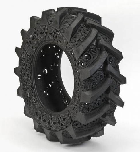 Carved Tires by Wim Delvoye | Design Milk #tire #ornate #carved