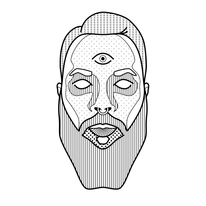 tumblr_nbyadyexNt1qkz315o1_1280.jpg (670×670) #white #pattern #design #graphic #black #eye #illustration #portrait #and