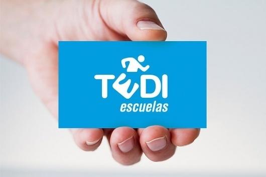 TEDI #pictogram #business #branding #card #de #corporate #la #identity #fuente #logo #david #blue #tedi