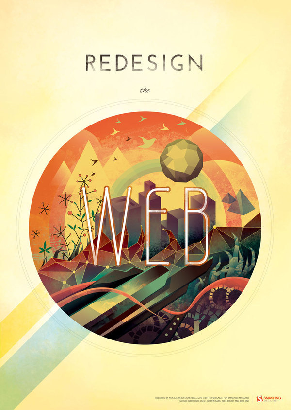 Redesign The Web Poster #illustration #3d #poster