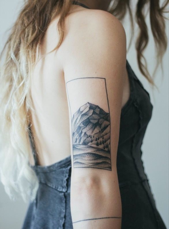 My little mountain tattoo is almost healed #ink #tattoo #body art #mountain
