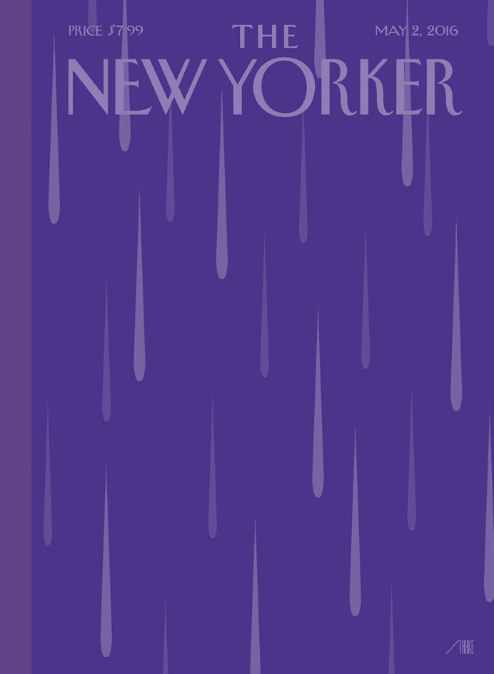 """'The New Yorker' Honors Prince With a """"Purple Rain"""" Cover"""
