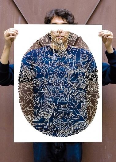 Introducing: Berlin-based Artist & Design Collective KLUB7 I Art Sponge #transparent #illustration #klub7 #poster