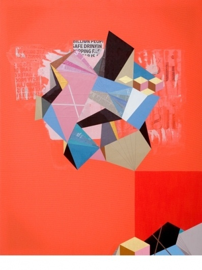 Selected Works « Clark Goolsby #shapes #geometric #inorganic #illustration #mixed #media