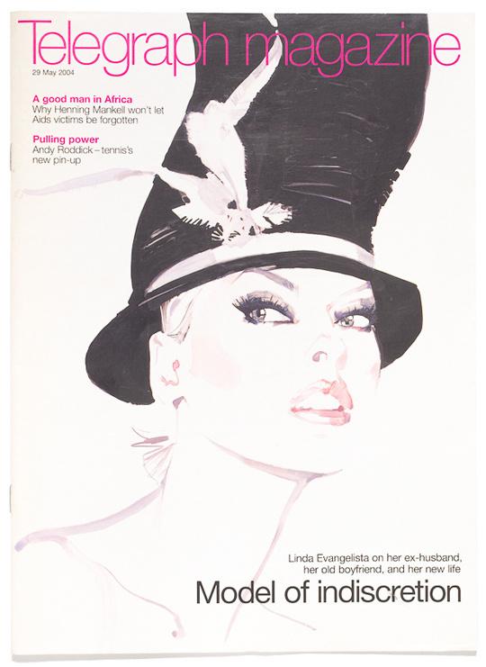 telegraph magazine may 2004 #downton #cover #illustration #fashion #david #magazine