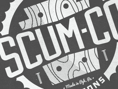 Dribbble - Scum Co and Sons by Colin Miller #type #logo