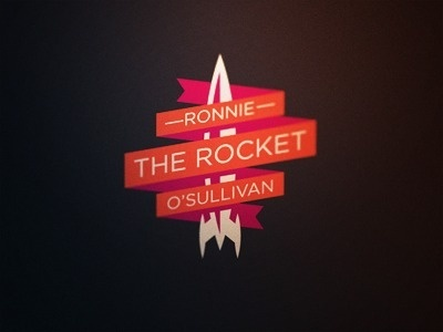 FFFFOUND! | Dribbble - Snooker Logos: Ronnie 'The Rocket' O'Sullivan by Fraser Davidson #logo #rocket #ronnie