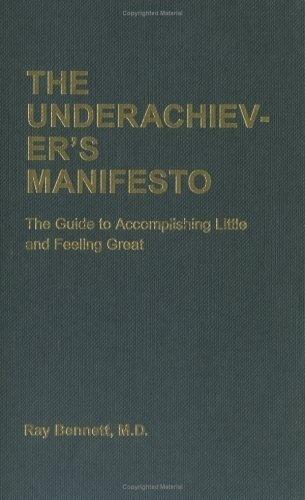 The Underachiever's Manifesto #cover #editorial #book