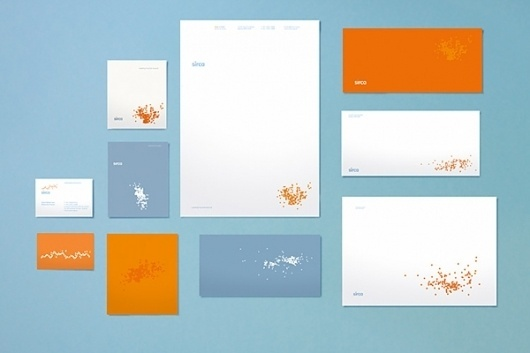 Looks like good Graphic Design by Naughtyfish #branding #orange #dots #identity #stationery #blue