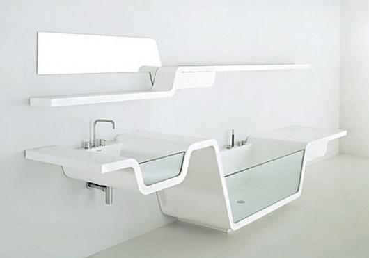 Onestep Creative #tub #bath #sink #modern #minimal