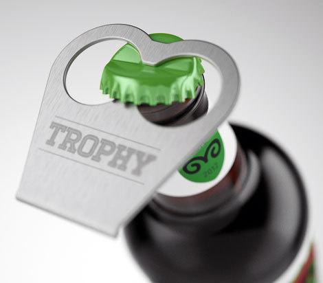Trophy Beer Beer Opener #packaging #beer #label #bottle