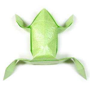 How to make an origami frog (http://www.origami-make.org/howto-origami-frog.php)