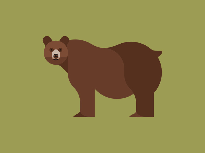 Bear #bear #illustration #animal #geometric