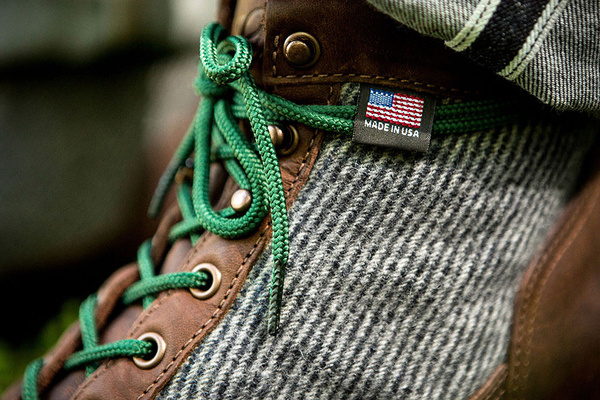 Image of Woolrich x Danner 2013 Capsule Collection Lookbook #clothing #laces #awesome #details #leather #wool #detail