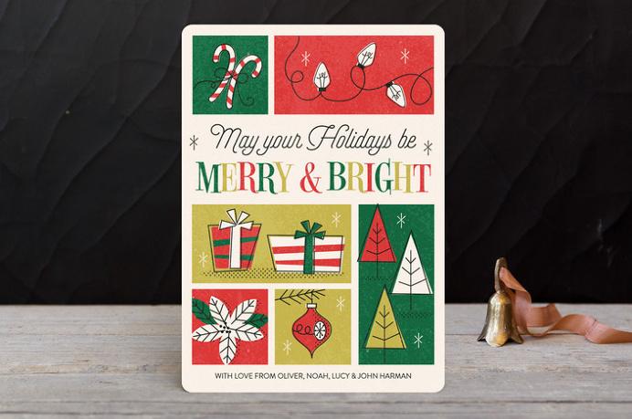 #holiday #card #retro #typography