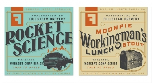 Brand Identity | Fullsteam Brewery | Helms Workshop #print #branding #typography