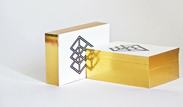 Foiled edge business cards #g #business #diamond #gold #cards #andrew