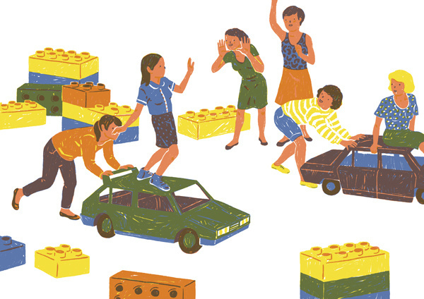 Little People I on Behance #illustration
