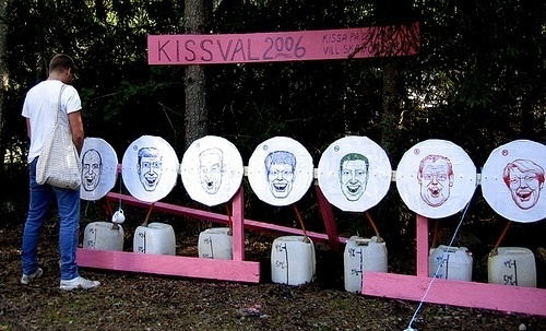 Environmental installation at festival | Flickr - Photo Sharing! #pink #election #peeing #snask #pee #politics