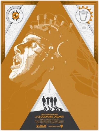 MoscatiVision #movie #kubrick #clockwork #a #print #design #orange #illustration #moscativision #poster #film #david #moscati #stanley