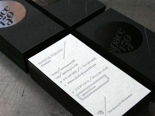 Black Cosmic - by Studio on Fire #letterpress #cards #business