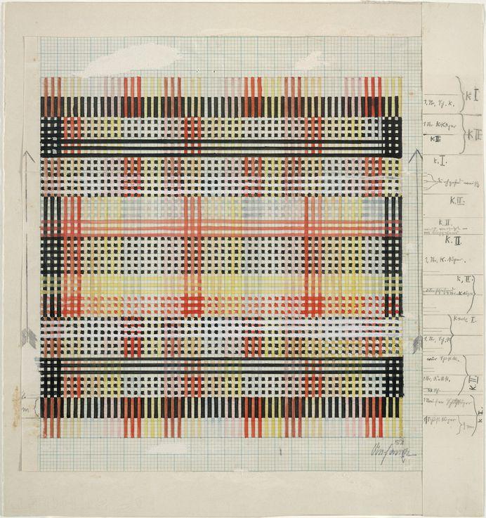 "garadinervi: ""Anni Albers, Design for Tablecloth, 1930, MoMA, New York, The Josef and Anni Albers Foundation """