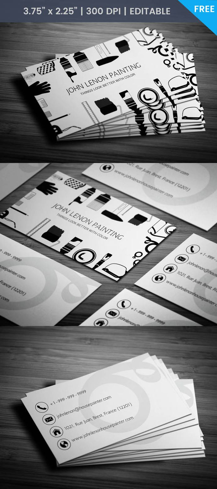 Free House Painter Business Card Template