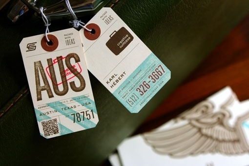 design work life » cataloging inspiration daily #ivory #red #business #mint #brown #tag #collateral #luggage #cards #green