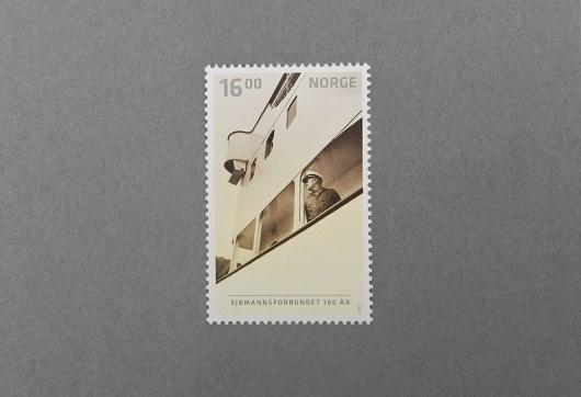 Neue #norway #stamp #union #design #graphic #seafarers