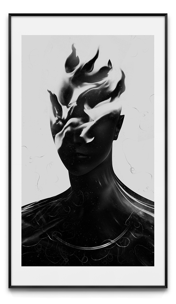 Beware of False Prophets #bible #geometry #wb #infinity #sacred #black #people #human #digital #illustration #portrait #fire #antianti #art #giga #spirit #man #kobidze