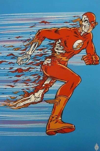 Designersgotoheaven.com The Flash by Ben Brown. Part of the SUPER exhibition, presented by The Roost Creative. #comic