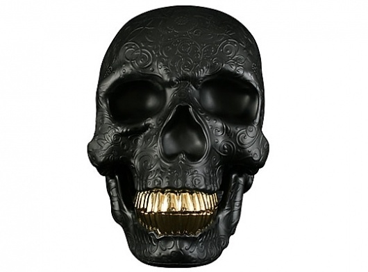"Highsnobiety Giveaway – Kid Robot Black x SSUR ""SSUReal From the Cradle to the Grave"" Vinyl Skull | Highsnobiety.com #skull #sculpture"