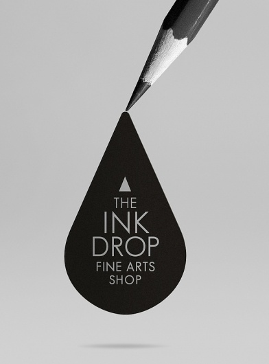 INK DROP Fine Arts Shop on the Behance Network #logo #design #branding