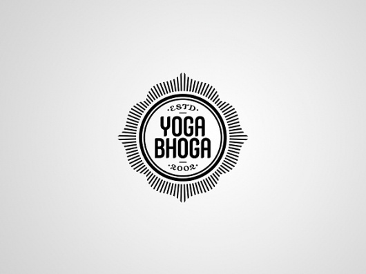 Yoga Bhoga Identity on the Behance Network #logo #tim #kamerer #branding