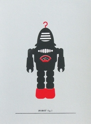 Made By Morris #printed #silkscreen #red #robot #silver #print #black #hand