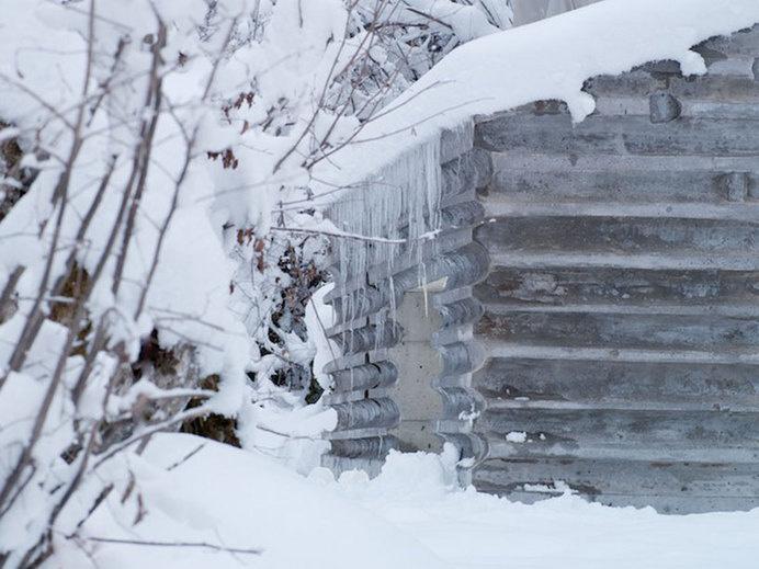 nickisch sano walder preserve the refugi lieptgas in concrete #cabin