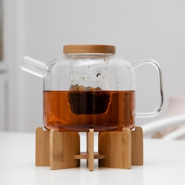 Glass Teapot & Stand by Kikkerland #tech #flow #gadget #gift #ideas #cool