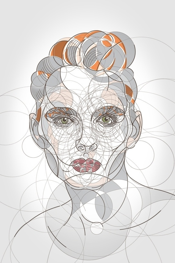 Circle Portraits #vector #creativecure #doganddeer #illustration #portrait #lisawassell #akawass