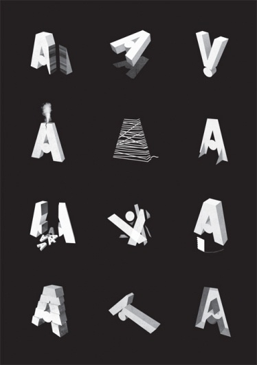 Jez Burrows / Projects / A Is For Awards #burrows #jez #typography