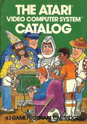 Atari - The Atari Video Computer System Catalog | Flickr - Photo Sharing! #games #video #illustration #manual #booklet