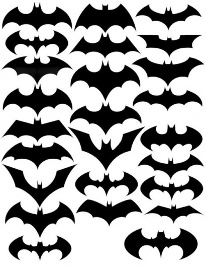 Changes of the bat symbol. - Designers Go To Heaven #logo #logos #batman