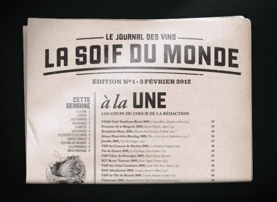 Café Du Monde | The Design Ark #branding #caf #print #newspaper #monde #du