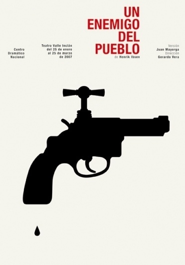 CDN : Isidro Ferrer #ferrer #huesca #spain #theatre #gun #isidro #illustration #drop #poster #tap